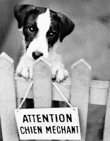ATTENTION! chien(ne) mechant(e)