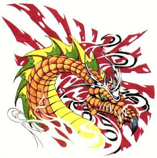 Tatuaż Wzory Tatuaży Tatuaże Smoki Czerwony Smok