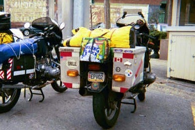 Nelson's BMW airhead motorcycles: motorcycles.Touring Packing