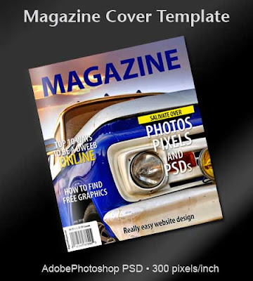 Free magazine cover psd template printriver for Magazine cover page template psd