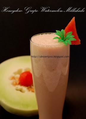 Honeydew + Grape + Watermelon + Milk Juice