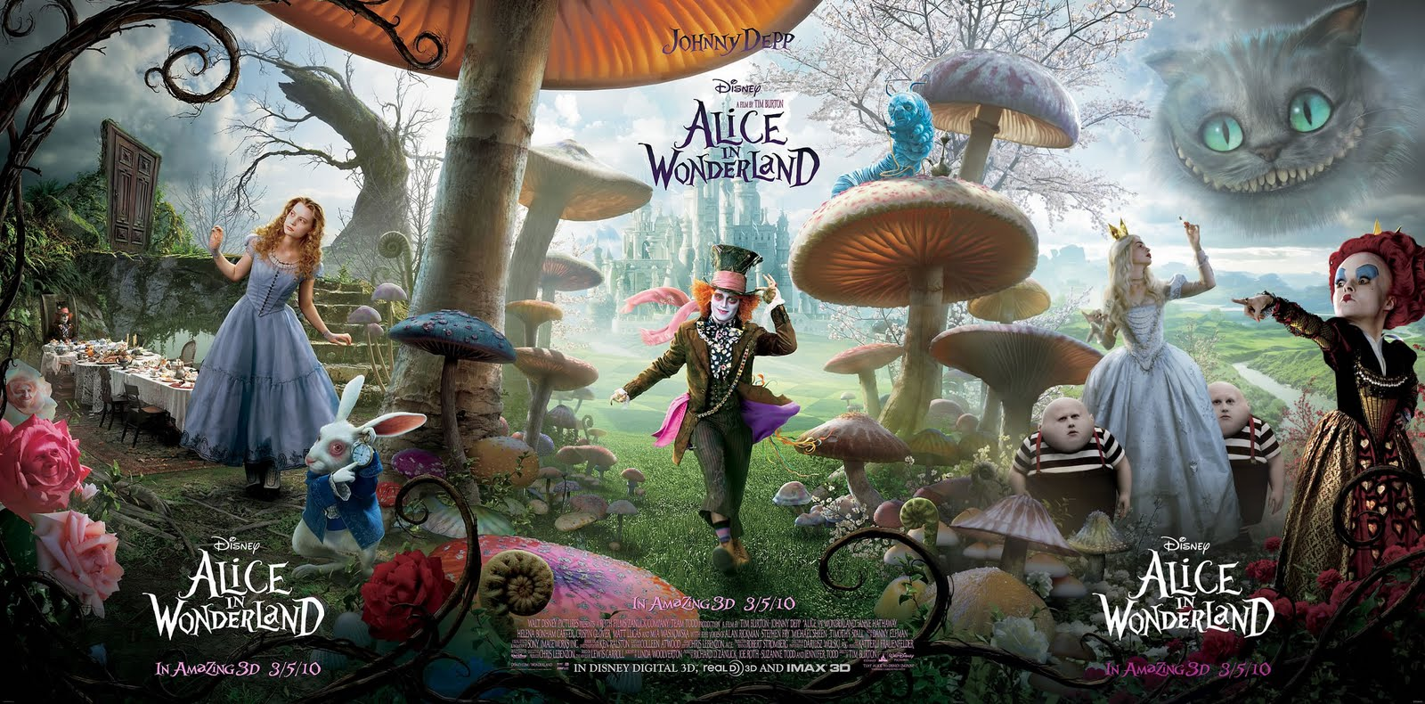 "micropsia: ""Alice in Wonderland"", de Tim Burton (nuevo poster)"