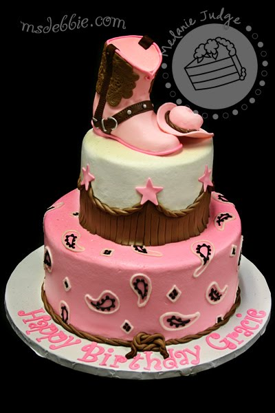 Cake Walk Pink Amp Brown Cowgirl Cake