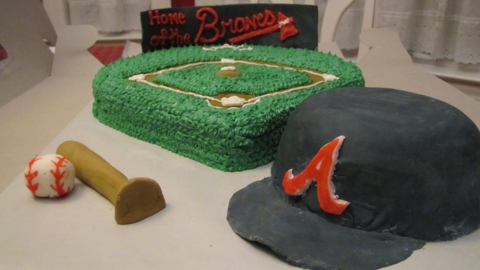Mel s Cakes  Braves Baseball Cake b41f4b2c7d45