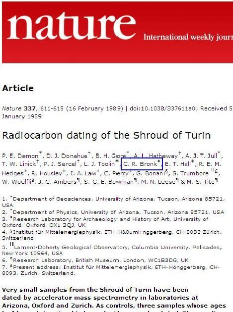 Shroud of turin carbon dating results of michigan