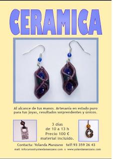 Cursos de bisuteria artesanal curso de bisuteria con ceramica for Curso ceramica barcelona