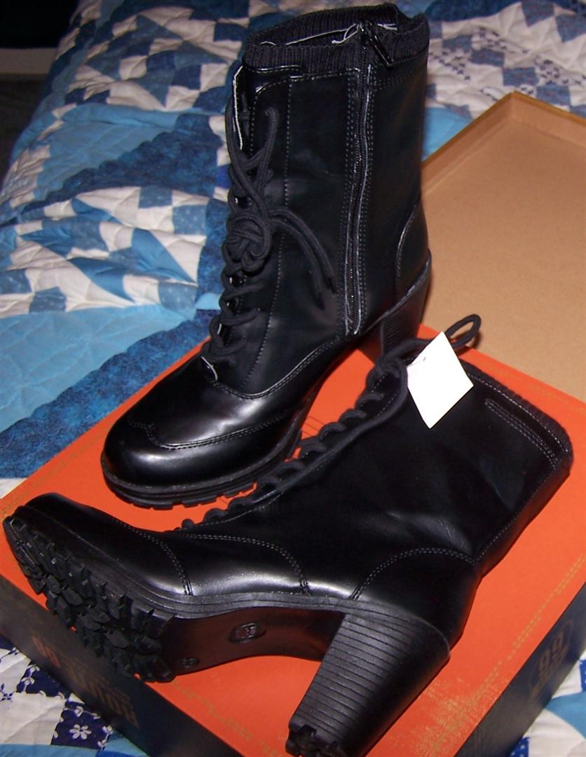5ebef4408606 They have a nice heel and felt comfortable when I tried them on. They  remind me of the boots I used to love in the early 1970's.