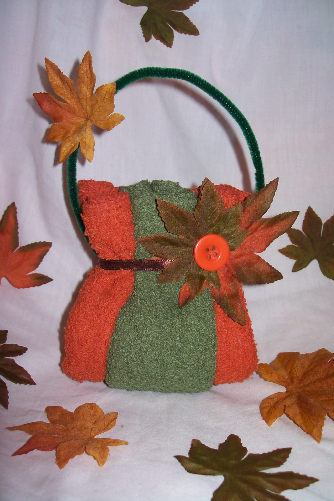 Candy Cake And Crafts Washcloth Purse Fall Theme