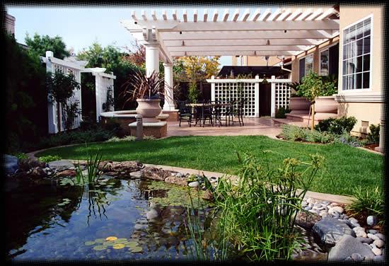 modern residential landscaping. Black Bedroom Furniture Sets. Home Design Ideas