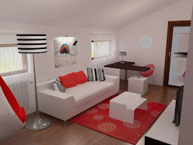 Contemporary Bedroom Design Bedroom In Red Black And White