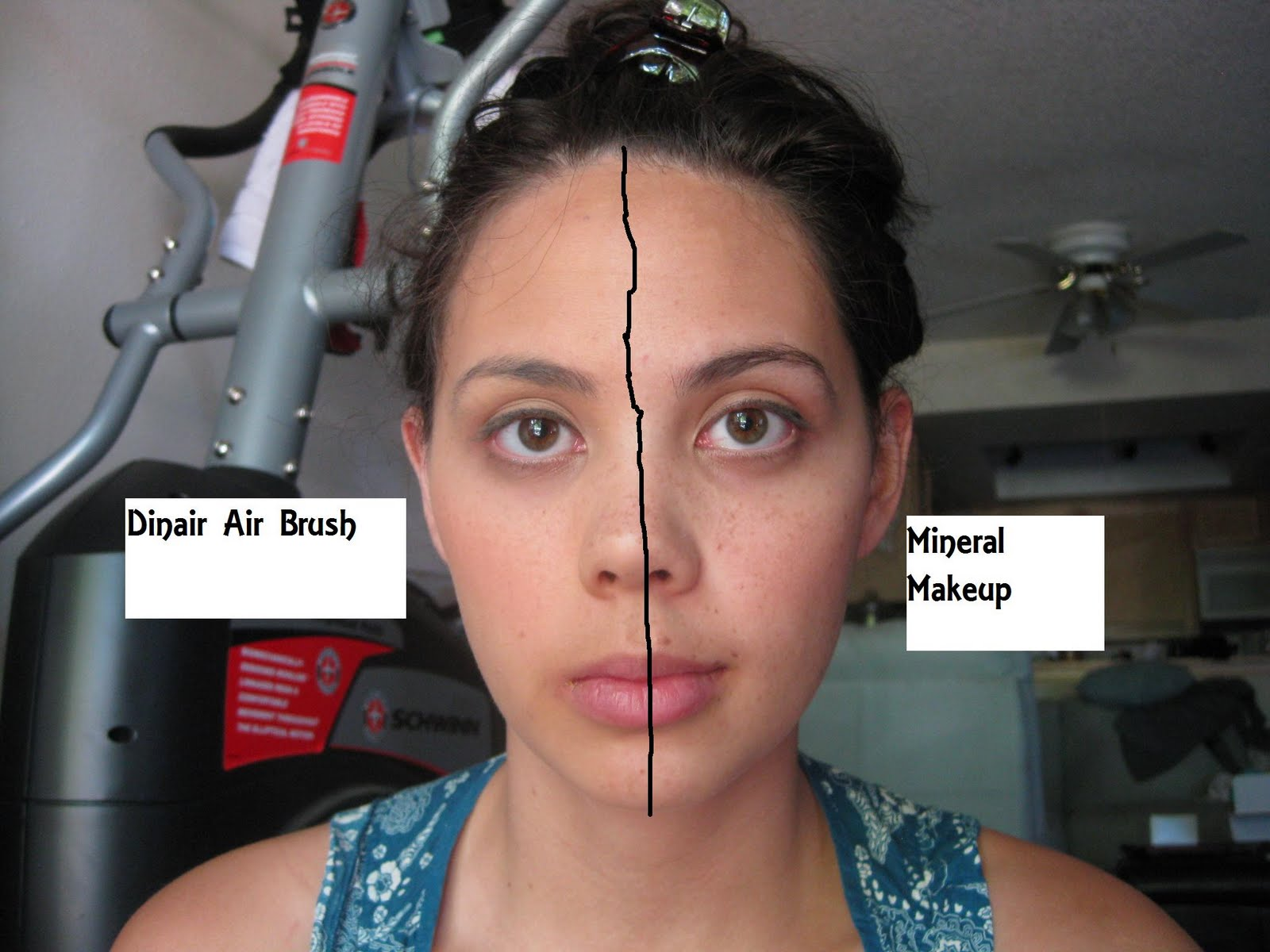 Air brush makeup