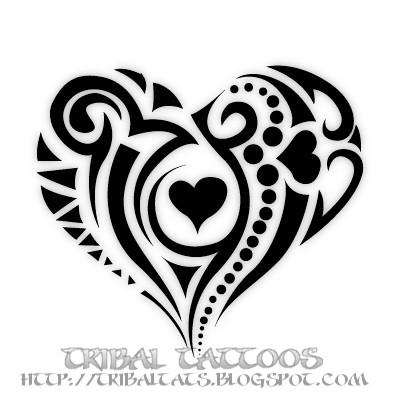 7b84bacbb3a66 kamal tattoo birds: 7 Unique Designs of Tribal Heart Tattoos Gallery
