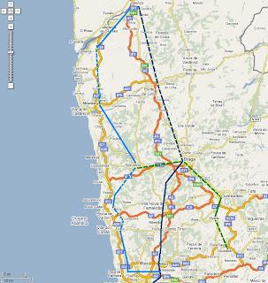mapa porto vigo Norteamos: Traçado litoral Porto Minho Vigo mapa porto vigo