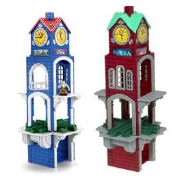 GeoTrax High Chimes Clock Tower (Blue & Red)
