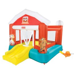 Fisher Price Barnyard Inflatable Bounce House Who Said Nothing