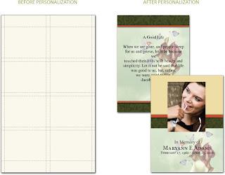 Memorial Prayer Cards Template. memorial prayer card templates ...