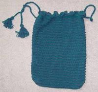 Double Knitting Bag Pattern : Knit and Crochet Pattern Chat: Free Double Diamond Patterns ~ DrawString Bag ...