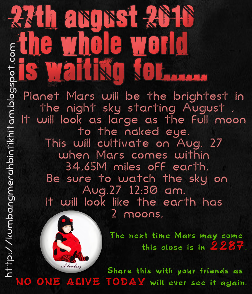 Watch Two Moons on Earth on 27 August 2010 ( ESOK ...