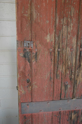 Vintage Arizona Century Old Red Barn Door