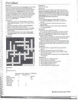 Interchange 2 (English Textbook): Workbook Answers, Unit 8