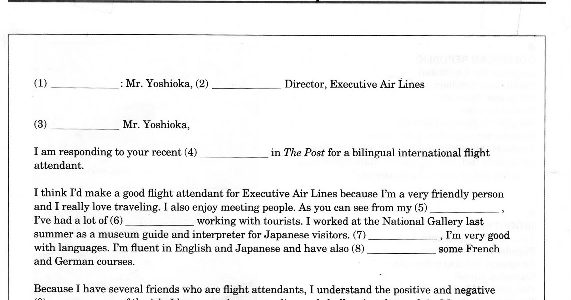 Interchange 2 English Textbook Cover Letter Exercise