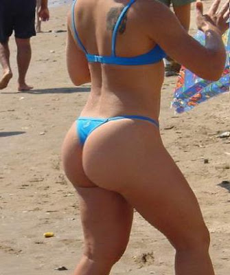 big butts at the beach