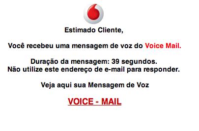 Ideias: Phishing mascarado de Vodafone