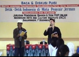 Baca Puisi Duet A.Indradi - Martin Jankowsky