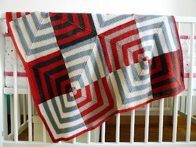 Chocolate 224 Chuva Mitered Baby Blanket