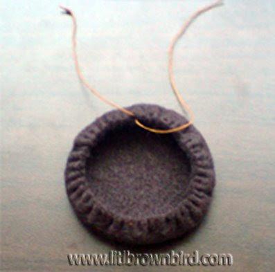 Step3 - Biscoito Oreo de feltro