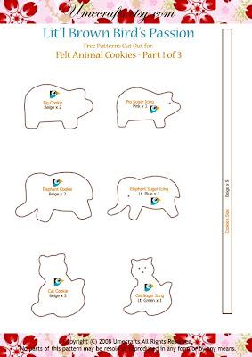 DIY+Cookies+ +Ptn1 - Biscoitinhos de feltro