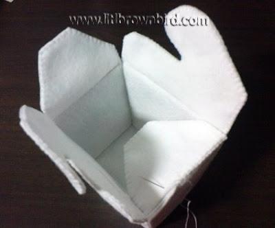 DSC08981 - Caixinha para comida japonesa em feltro