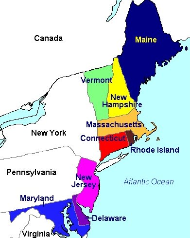 map of northeast united states submited images.