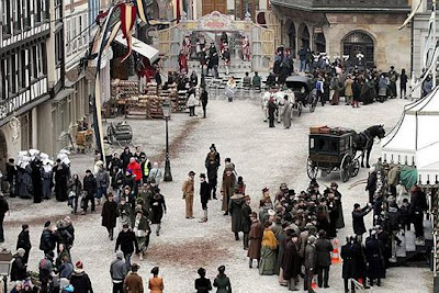 la place de la cathedrale ce matin a strasbourg. photo dominique gutekunst - Fotos desde el set de Sherlock Holmes 2