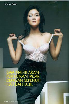 sandra dewi cinta fhm model tidak telanjang