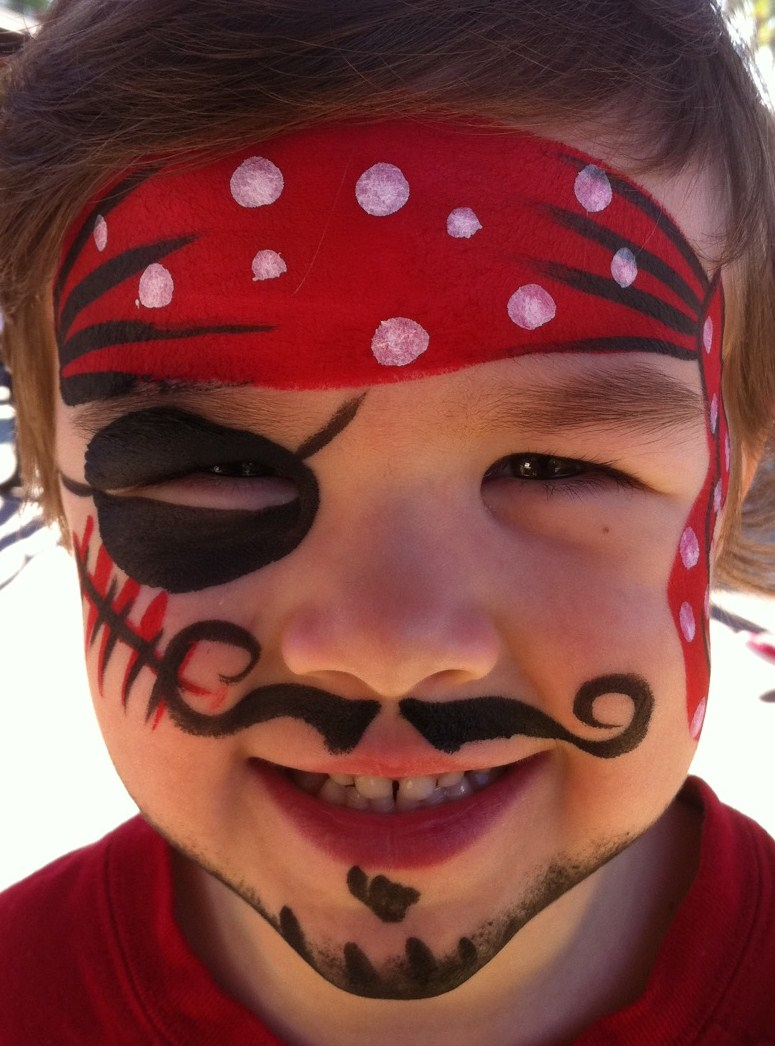 face painting body art pirate. Black Bedroom Furniture Sets. Home Design Ideas