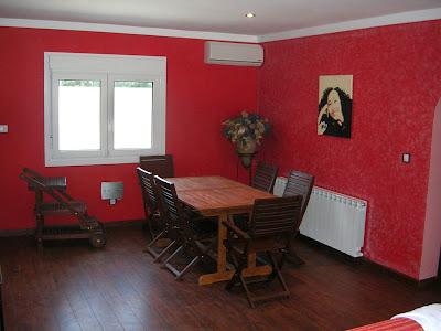 Ambar Pintura y Murales: Comedor de rojo