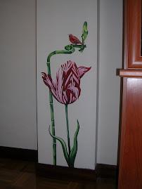Tulipan con bambú