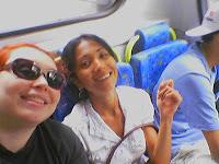 Eu e Amanda no bus