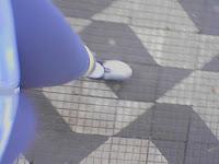 Andando até a perna cair