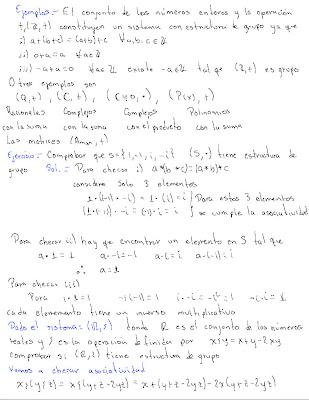 álgebra Lineal Estructuras Algebraicas Grupos