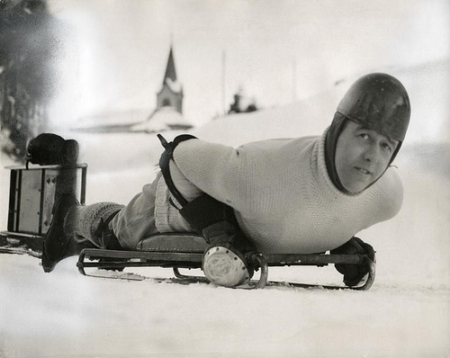 Bobsleigh, skeleton: lord Northesk in St. Moritz, Switzerland, 1935. Nationaal Archief / Spaarnestad Photo