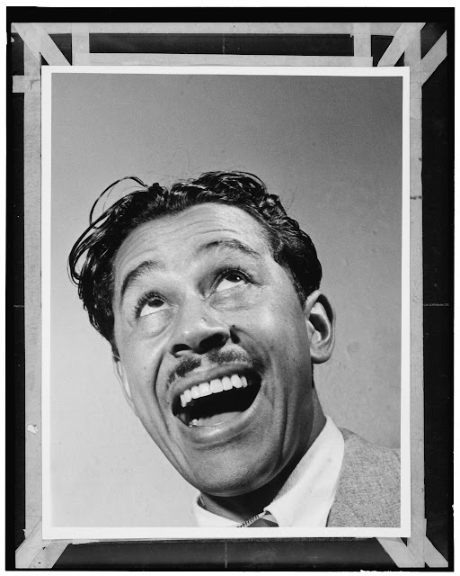 "Portrait of Cab Calloway, New York, N.Y.(?), ca. Jan. 1947. Forms part of: William P. Gottlieb Collection (Library of Congress). In: ""The carnation kid,"" Down Beat, v. 16, no. 2 (Jan. 15, 1947), p. 16."