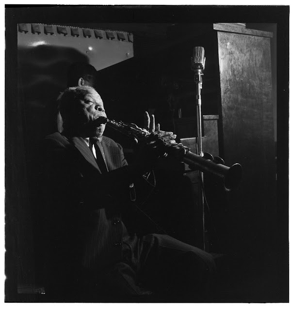 Portrait of Sidney Bechet, Jimmy Ryan's (Club), New York, N.Y., ca. June 1947. William P. Gottlieb Collection (Library of Congress).