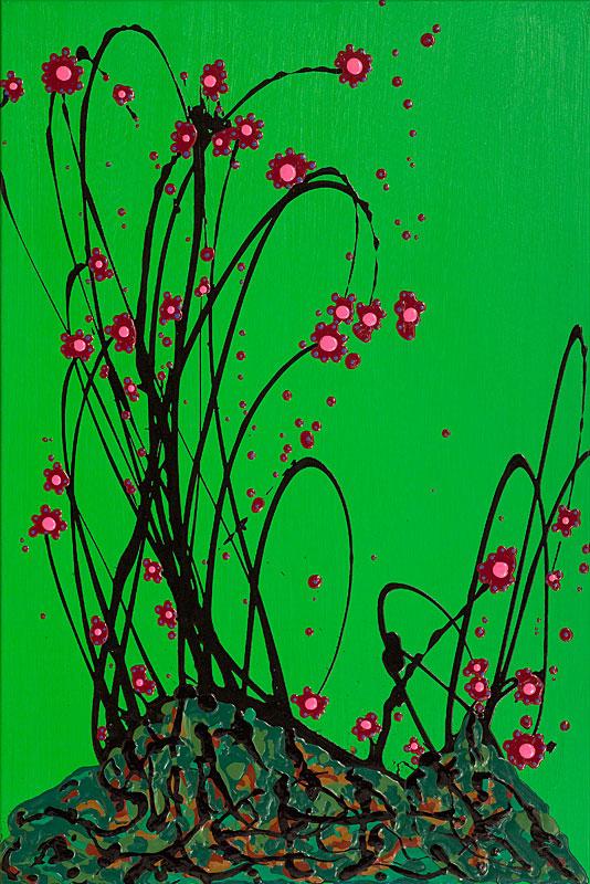 7395V - Volutes de roses