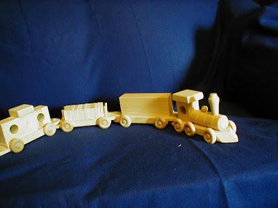 Wooden 4 Car Train