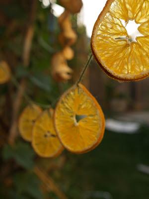 מחרוזת פרוסות תפוז מיובשות