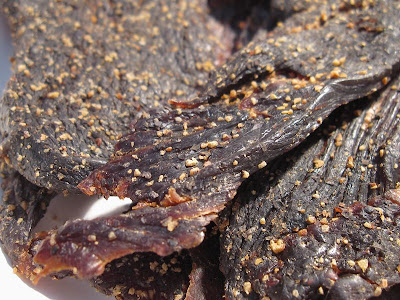 peppered ostrich jerky