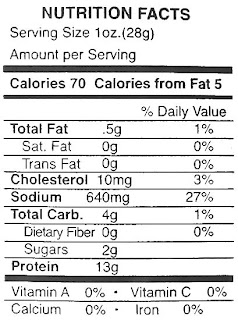 elk jerky nutrition facts