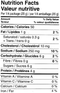 honey garlic beef jerky nutrition label